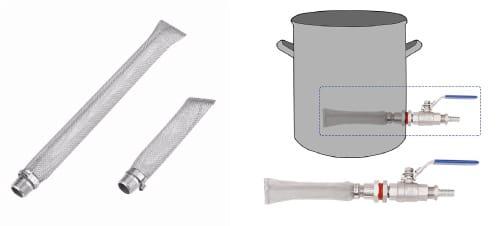 Bazooka ou écran filtre de brassage